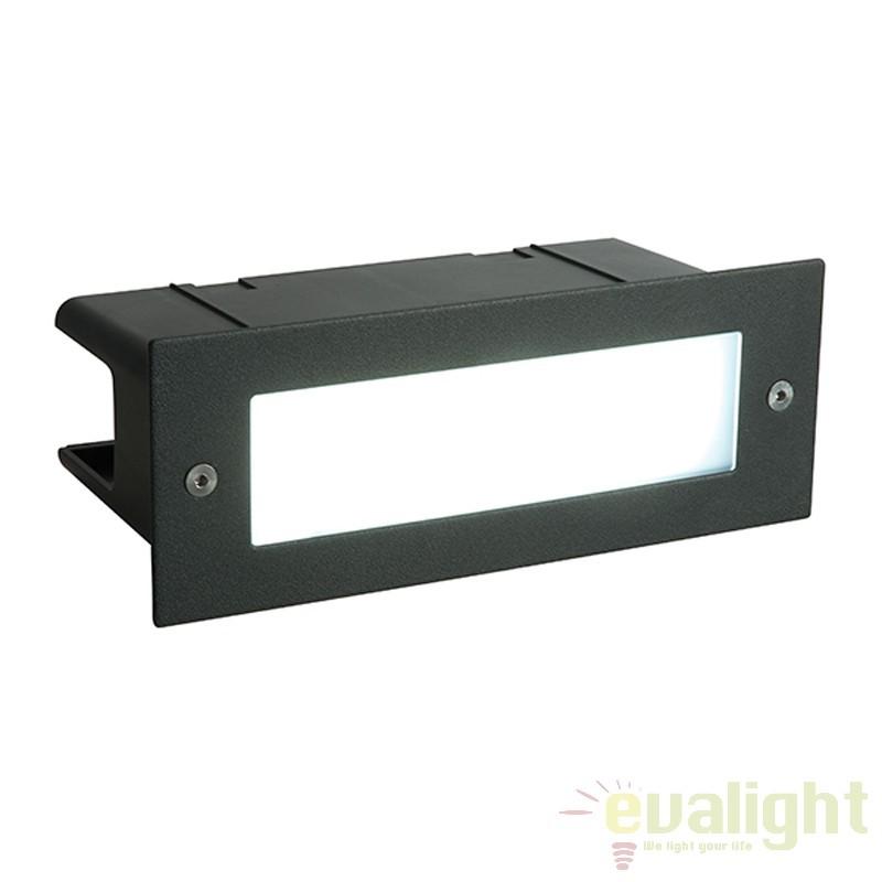 Aplica incastrabila cu iluminat LED ambientala Seina plain neagra 55518 EN, Spoturi incastrate, aplicate - tavan / perete, Corpuri de iluminat, lustre, aplice a