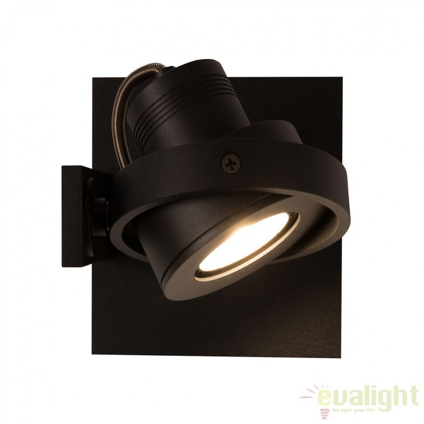 Aplica LED / Plafoniera moderna cu 1 spot LUCI-1 LED negru 5500609 ZV, Spoturi LED incastrate, aplicate, Corpuri de iluminat, lustre, aplice a