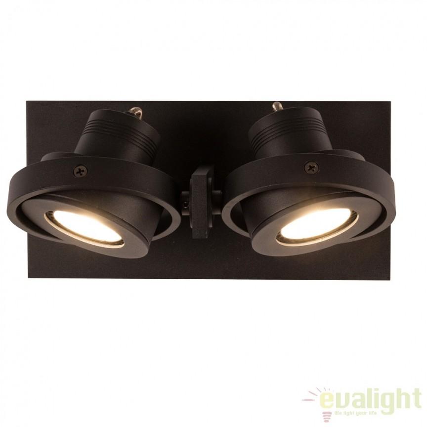 Aplica LED / Plafoniera moderna cu 2 spoturi LUCI-2 LED negru 5500612 ZV, Spoturi LED incastrate, aplicate, Corpuri de iluminat, lustre, aplice a