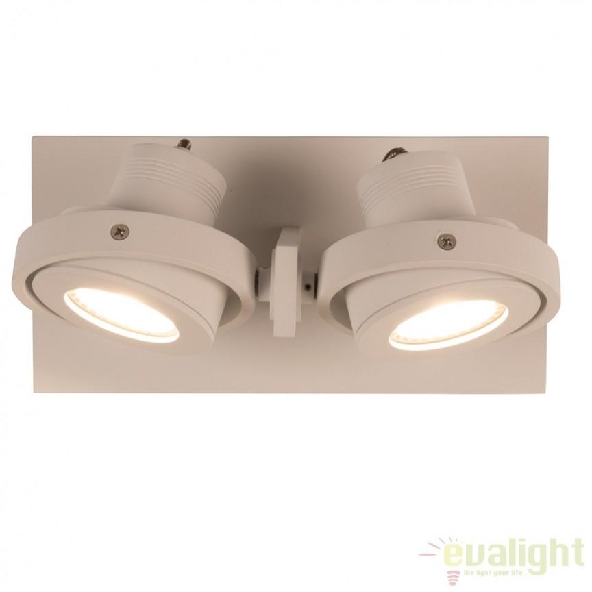 Aplica LED / Plafoniera moderna cu 2 spoturi LUCI-2 LED alb 5500611 ZV, Spoturi LED incastrate, aplicate, Corpuri de iluminat, lustre, aplice a