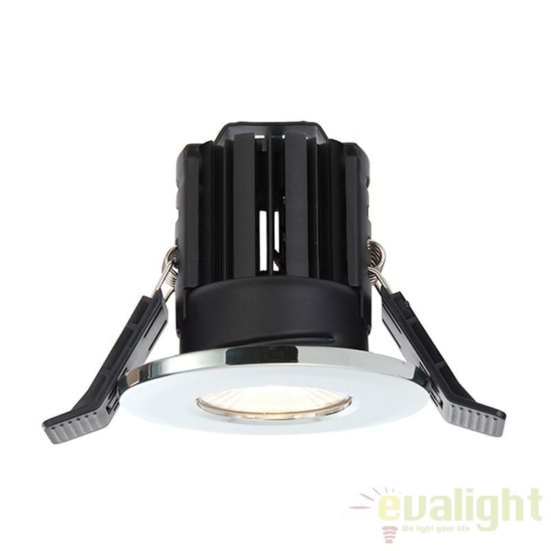 Spot incastrabil pentru baie IP65 iluminat warm white LED 11W 800 crom 52727 EN, Spoturi incastrate, aplicate - tavan / perete, Corpuri de iluminat, lustre, aplice a