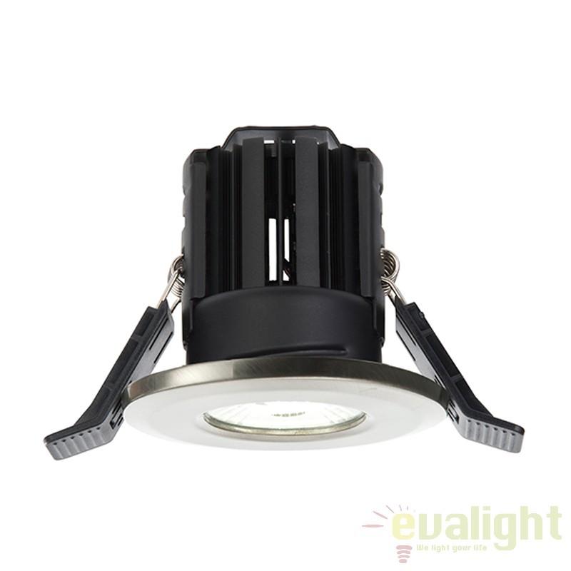 Spot incastrabil pentru baie IP65 iluminat warm white LED 11W 800 nickel satin 52732 EN, Spoturi incastrate, aplicate - tavan / perete, Corpuri de iluminat, lustre, aplice a