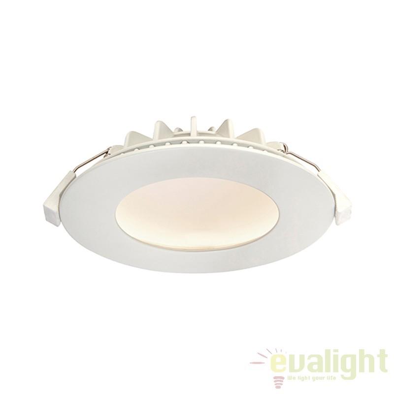 Spot incastrabil natural white LED cu design anti orbire Orbital alb 66390 EN, Spoturi incastrate, aplicate - tavan / perete, Corpuri de iluminat, lustre, aplice a