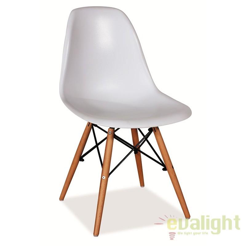 Scaun modern, picioare din lemn de fag, ENZO alb ENZO SM, Rezultate cautare, Corpuri de iluminat, lustre, aplice a