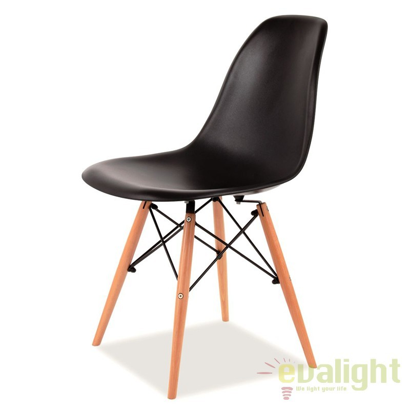 Scaun modern, picioare din lemn de fag, ENZO negru ENZO SM, Rezultate cautare, Corpuri de iluminat, lustre, aplice a