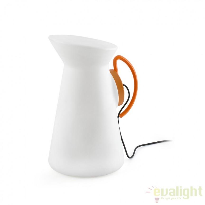 Lampa portabila cu design decorativ de exterior JARRETT orange 70477 Faro Barcelona , Lampi de exterior portabile , Corpuri de iluminat, lustre, aplice a