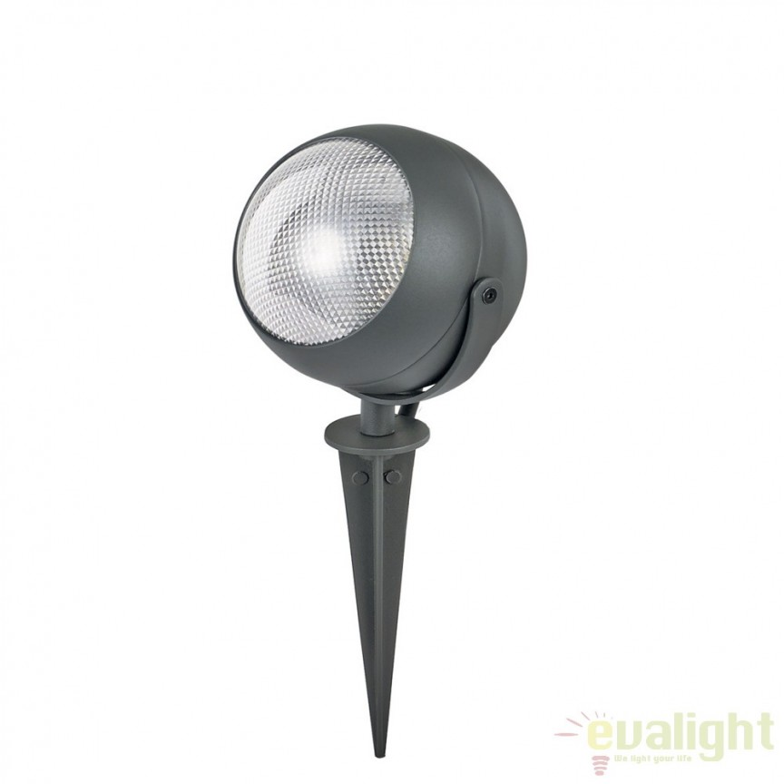 Tarus LED iluminat exterior ZENITH PT1 SMALL ANTRACITE 108407, Proiectoare de exterior cu tarus, Corpuri de iluminat, lustre, aplice, veioze, lampadare, plafoniere. Mobilier si decoratiuni, oglinzi, scaune, fotolii. Oferte speciale iluminat interior si exterior. Livram in toata tara.  a