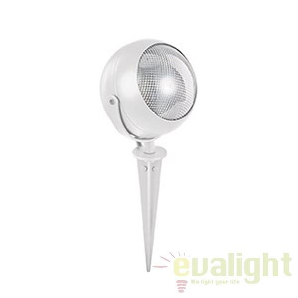 Tarus LED iluminat exterior ZENITH PT1 SMALL BIANCO 108384, Proiectoare de exterior cu tarus, Corpuri de iluminat, lustre, aplice a