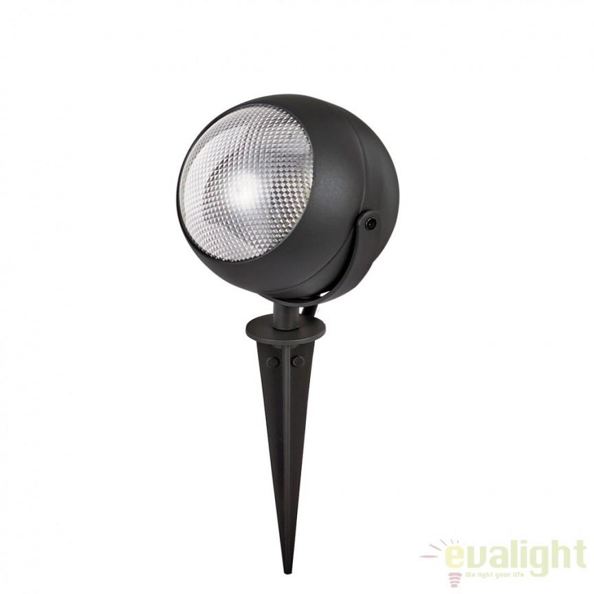Tarus LED iluminat exterior ZENITH PT1 SMALL NERO 108391, Proiectoare de exterior cu tarus, Corpuri de iluminat, lustre, aplice, veioze, lampadare, plafoniere. Mobilier si decoratiuni, oglinzi, scaune, fotolii. Oferte speciale iluminat interior si exterior. Livram in toata tara.  a