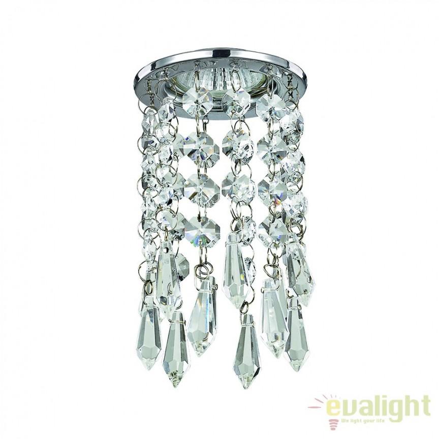 Spot incastrabil, detalii decorative din crystal glass, BOSSANOVA FI1 107684, Spoturi incastrate, aplicate - tavan / perete, Corpuri de iluminat, lustre, aplice a