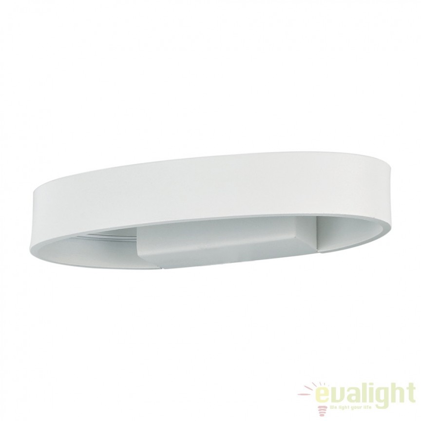 Aplica de perete LED moderna ZED AP1 OVAL BIANCO 115153, Promotii si Reduceri⭐ Oferte ✅Corpuri de iluminat ✅Lustre ✅Mobila ✅Decoratiuni de interior si exterior.⭕Pret redus online➜Lichidari de stoc❗ Magazin ➽ www.evalight.ro. a
