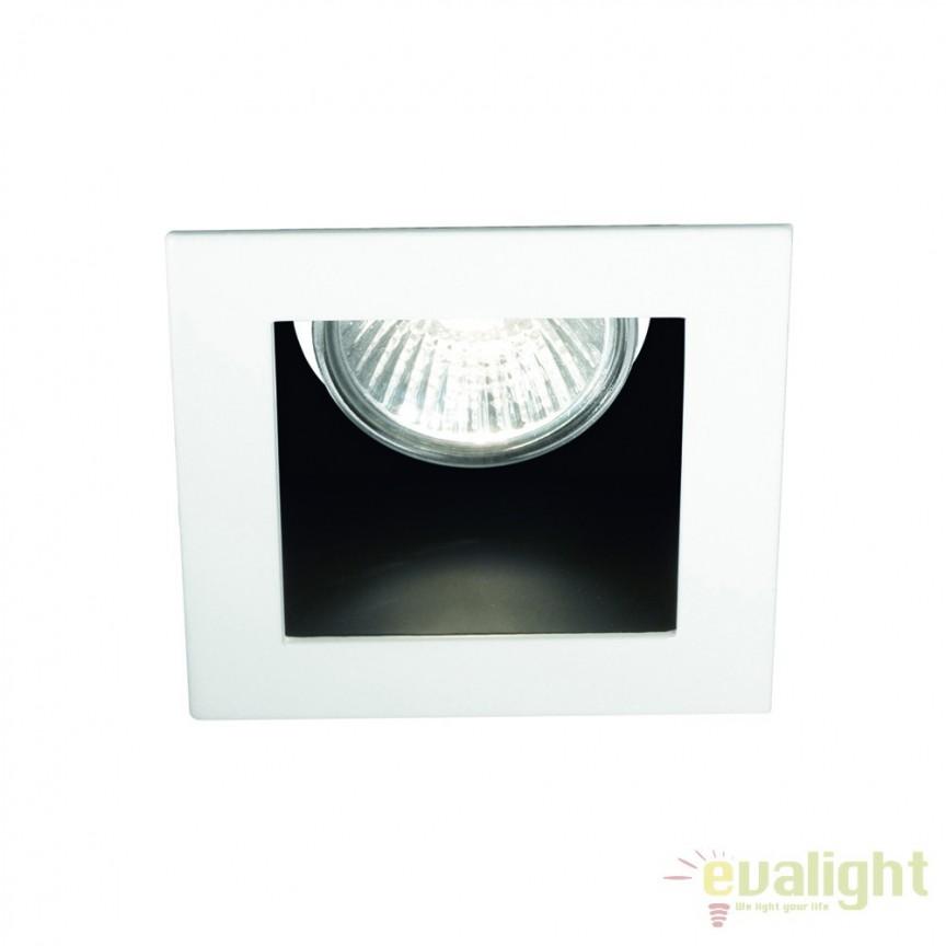 Spot incastrabil pt. tavan fals 9x9cm, FUNKY FI1 BIANCO 083230, Spoturi incastrate, aplicate - tavan / perete, Corpuri de iluminat, lustre, aplice a