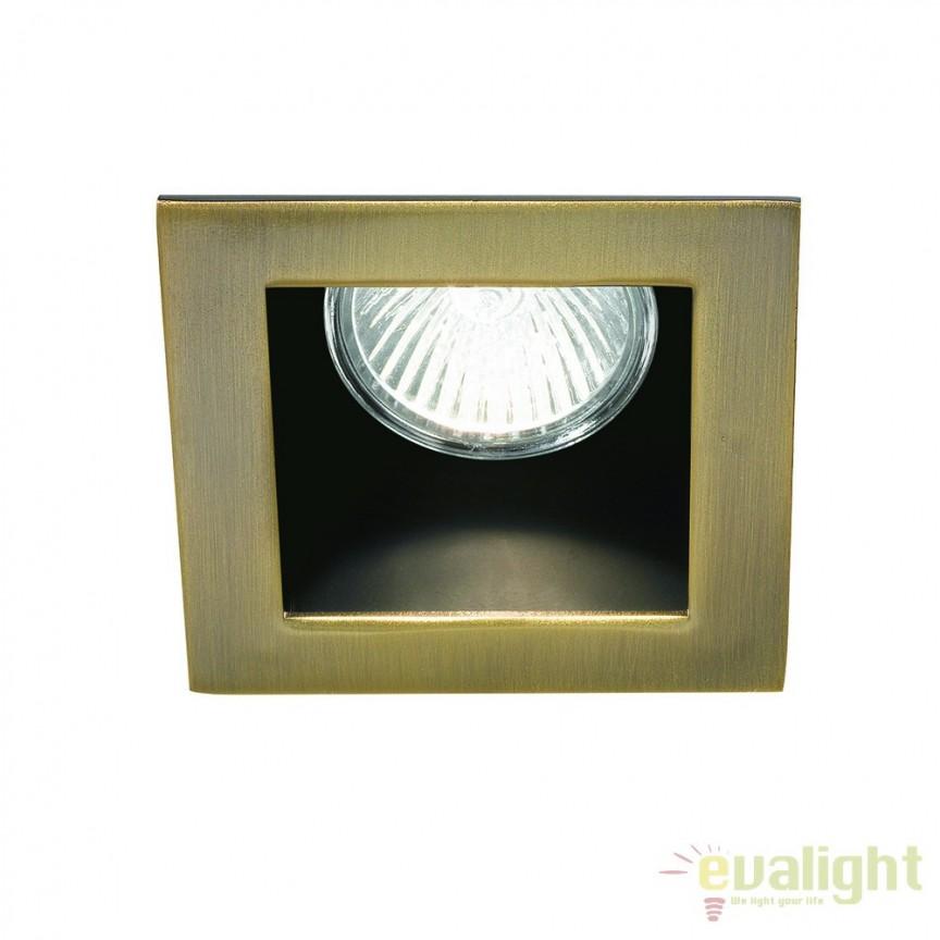 Spot incastrabil pt. tavan fals 9x9cm, FUNKY FI1 BRUNITO 083247, Spoturi incastrate, aplicate - tavan / perete, Corpuri de iluminat, lustre, aplice a