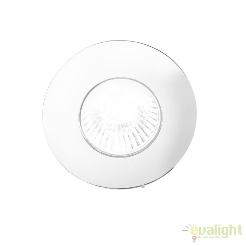Spot incastrabil pt. tavan fals cu rama turnata HIP HOP FI1 ROUND BIANCO 118611, Spoturi incastrate, aplicate - tavan / perete, Corpuri de iluminat, lustre, aplice a