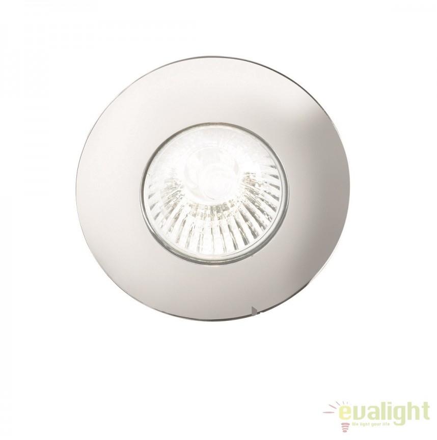 Spot incastrabil pt. tavan fals cu rama turnata HIP HOP FI1 ROUND CROMO 107660, Spoturi incastrate, aplicate - tavan / perete, Corpuri de iluminat, lustre, aplice a