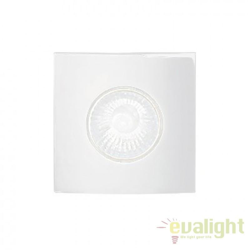 Spot incastrabil pt. tavan fals cu rama turnata HIP HOP FI1 SQUARE BIANCO 118932, Spoturi incastrate, aplicate - tavan / perete, Corpuri de iluminat, lustre, aplice a
