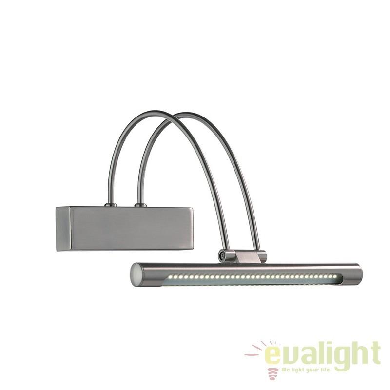 Aplica de perete LED BOW AP36 nickel 005379, Aplice de perete LED, Corpuri de iluminat, lustre, aplice, veioze, lampadare, plafoniere. Mobilier si decoratiuni, oglinzi, scaune, fotolii. Oferte speciale iluminat interior si exterior. Livram in toata tara.  a