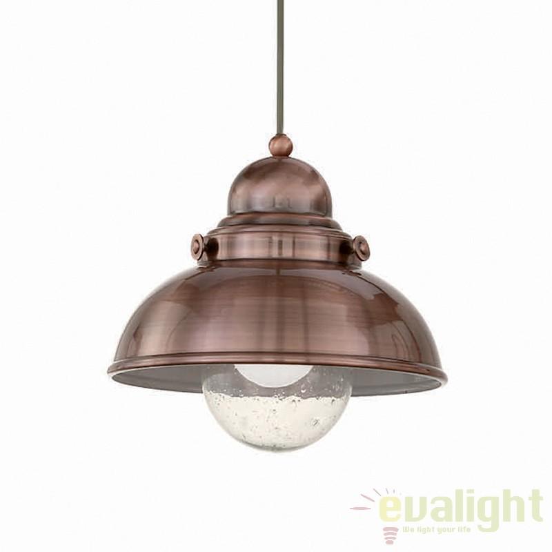 Pendul design INDUSTRIA Style SAILOR SP1 D29 RAME 025278, Promotii si Reduceri⭐ Oferte ✅Corpuri de iluminat ✅Lustre ✅Mobila ✅Decoratiuni de interior si exterior.⭕Pret redus online➜Lichidari de stoc❗ Magazin ➽ www.evalight.ro. a