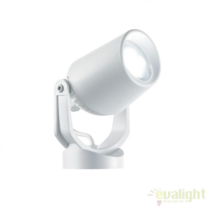 Tarus iluminat LED exterior IP65 MINITOMMY PT1 BIANCO 120218, Proiectoare de exterior cu tarus, Corpuri de iluminat, lustre, aplice a