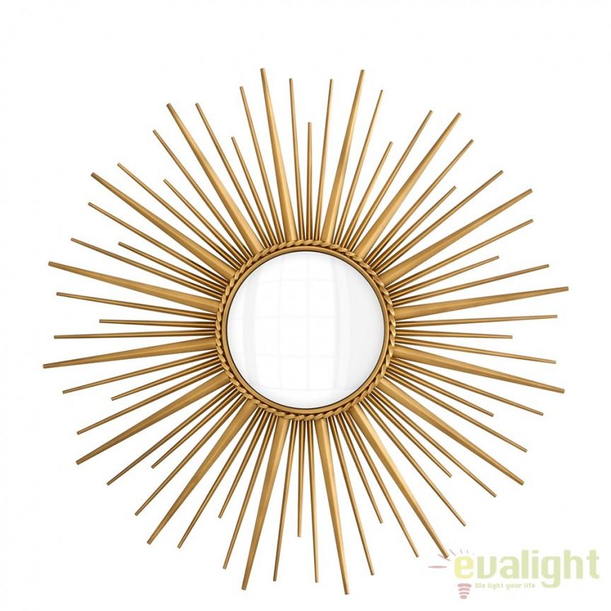 Oglinda decorativa LUX diametru 96cm, Helios 110329 HZ, Oglinzi decorative moderne✅ decoratiuni de perete cu oglinda⭐ modele mari si rotunde pentru Hol, Living, Dormitor si Baie.❤️Promotii la oglinzi cu design decorativ❗ Intra si vezi poze ✚ pret ➽ www.evalight.ro. ➽ sursa ta de inspiratie online❗ Alege oglinzi deosebite Art Deco de lux pentru decorare casa, fabricate de branduri renumite. Aici gasesti cele mai frumoase si rafinate obiecte de decor cu stil contemporan unicat, oglinzi elegante cu suport de prindere pe perete, de masa sau de podea potrivite pt dresing, cu rama din metal cu aspect antichizat sau lemn de culoare aurie, sticla argintie in diferite forme: oglinzi in forma de soare, hexagonale tip fagure hexagon, ovale, patrate mici, rectangulara sau dreptunghiulara, design original exclusivist: industrial style, retro, vintage (produse manual handmade), scandinav nordic, clasic, baroc, glamour, romantic, rustic, minimalist. Tendinte si idei actuale de designer pentru amenajari interioare premium Top 2020❗ Oferte si reduceri speciale cu vanzare rapida din stoc, oglinzi de calitate la cel mai bun pret. a