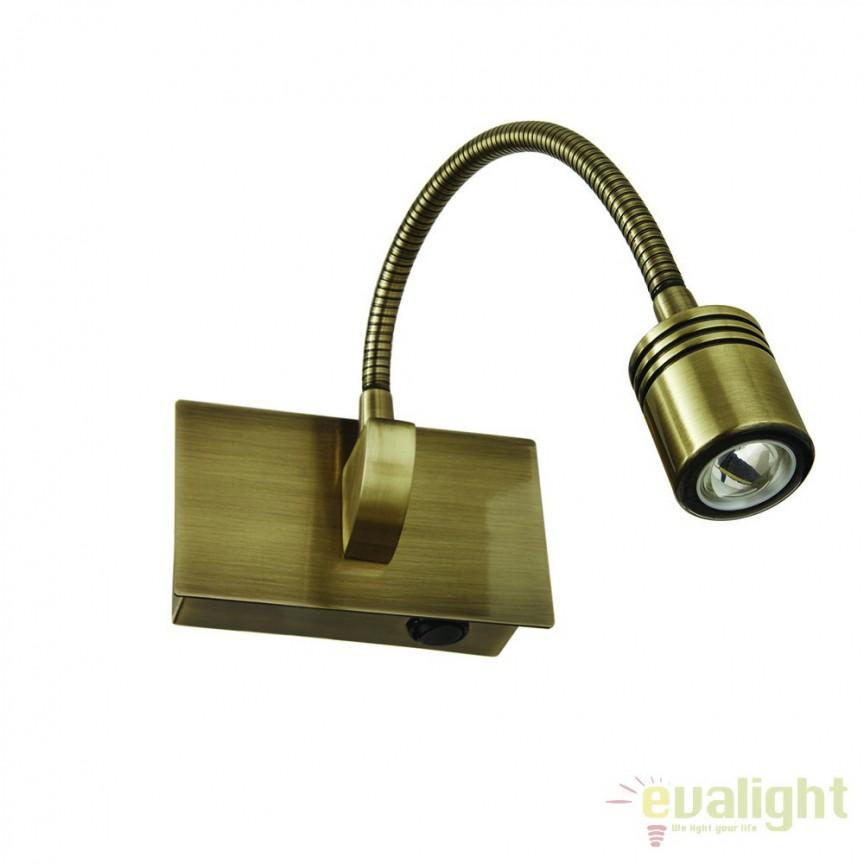 Aplica de perete power LED DYNAMO AP1 BRUNITO 121352, Aplice de perete LED, moderne⭐ modele potrivite pentru dormitor, living, baie, hol, bucatarie.✅DeSiGn LED decorativ 2021!❤️Promotii lampi❗ ➽ www.evalight.ro. Alege oferte NOI corpuri de iluminat cu LED pt interior, elegante din cristal (becuri cu leduri si module LED integrate cu lumina calda, naturala sau rece), ieftine si de lux, calitate deosebita la cel mai bun pret.  a