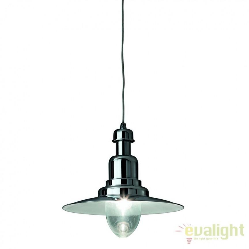 Pendul design retro, diametru 40cm FIORDI SP1 BIG CROMO 004976, Outlet,  a