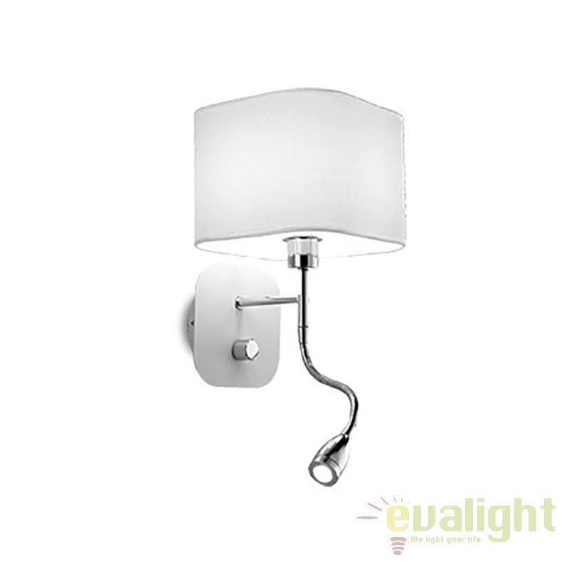 Aplica de perete cu reader LED HOLIDAY AP2 BIANCO 124162, Aplice de perete LED, moderne⭐ modele potrivite pentru dormitor, living, baie, hol, bucatarie.✅DeSiGn LED decorativ 2021!❤️Promotii lampi❗ ➽ www.evalight.ro. Alege oferte NOI corpuri de iluminat cu LED pt interior, elegante din cristal (becuri cu leduri si module LED integrate cu lumina calda, naturala sau rece), ieftine si de lux, calitate deosebita la cel mai bun pret.  a