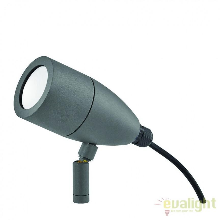 Proiector iluminat exterior cu tarus, IP54 INSIDE PT1 ANTRACITE 115412, Proiectoare de exterior cu tarus, Corpuri de iluminat, lustre, aplice a