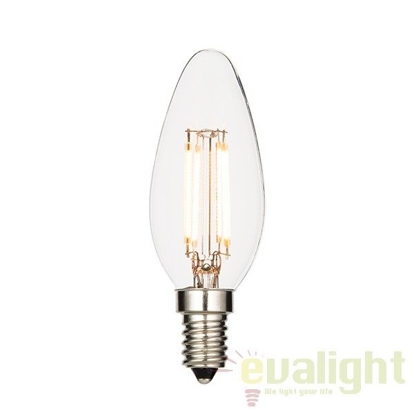 Bec E14 LED filament candle 4W 61539 EN, Outlet, Corpuri de iluminat, lustre, aplice, veioze, lampadare, plafoniere. Mobilier si decoratiuni, oglinzi, scaune, fotolii. Oferte speciale iluminat interior si exterior. Livram in toata tara.  a