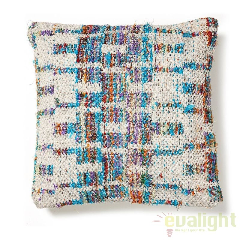Perna multicolor decorativa dim.45cmx45cm, AA0330J35 JG, Corpuri de iluminat, lustre, aplice