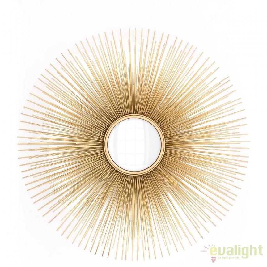 Oglinda decorativa LUX diametru 80cm, Solaris 110436 HZ, Corpuri de iluminat, lustre, aplice, veioze, lampadare, plafoniere. Mobilier si decoratiuni, oglinzi, scaune, fotolii. Oferte speciale iluminat interior si exterior. Livram in toata tara.