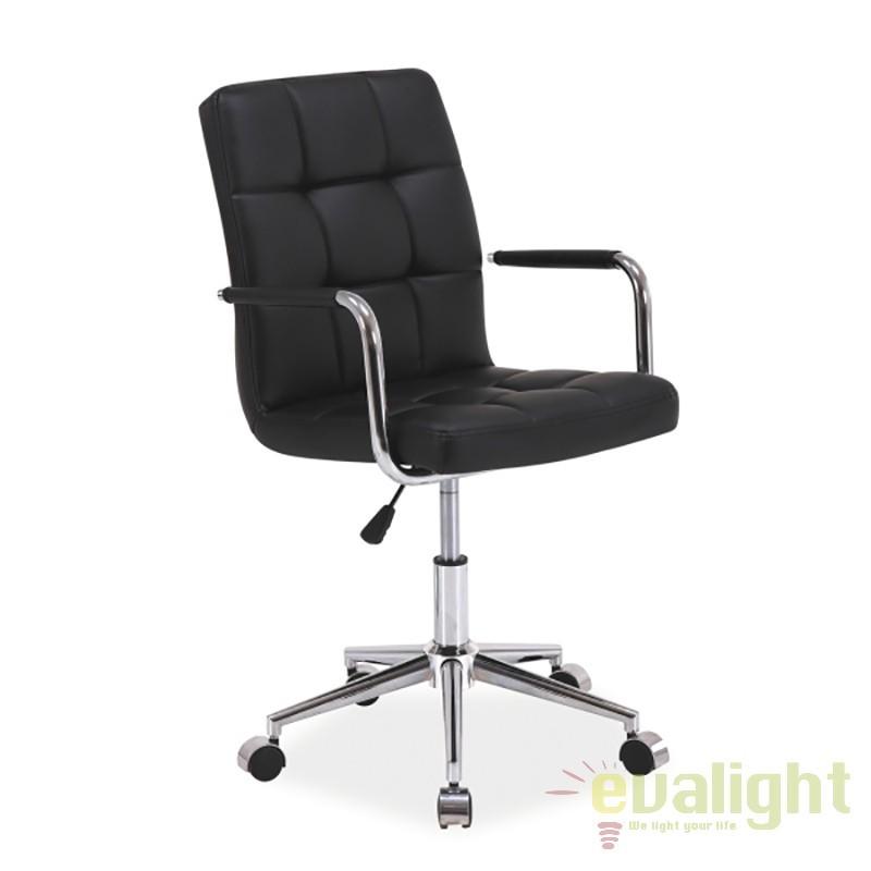 Scaun de birou modern, pivotant Q-022 negru OBRQ022C SM, PROMOTII, Corpuri de iluminat, lustre, aplice, veioze, lampadare, plafoniere. Mobilier si decoratiuni, oglinzi, scaune, fotolii. Oferte speciale iluminat interior si exterior. Livram in toata tara.  a