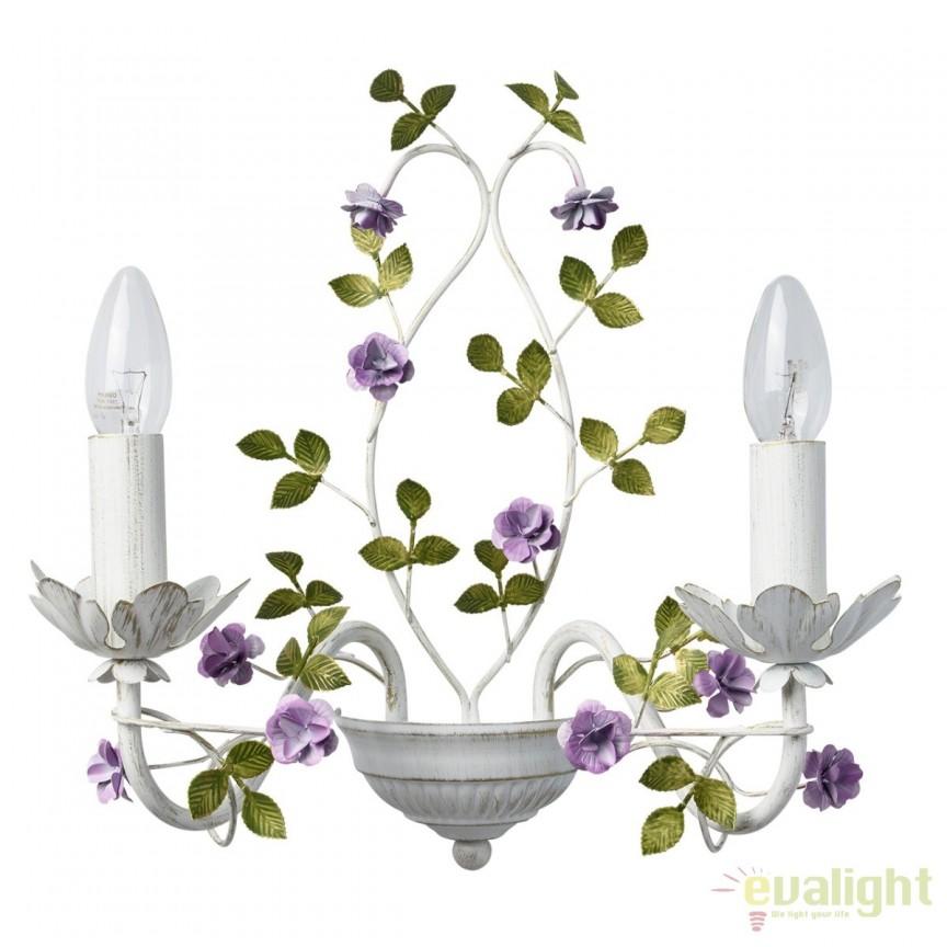 Aplica de perete eleganta, romantic Flora violet 421024502 MW,  a