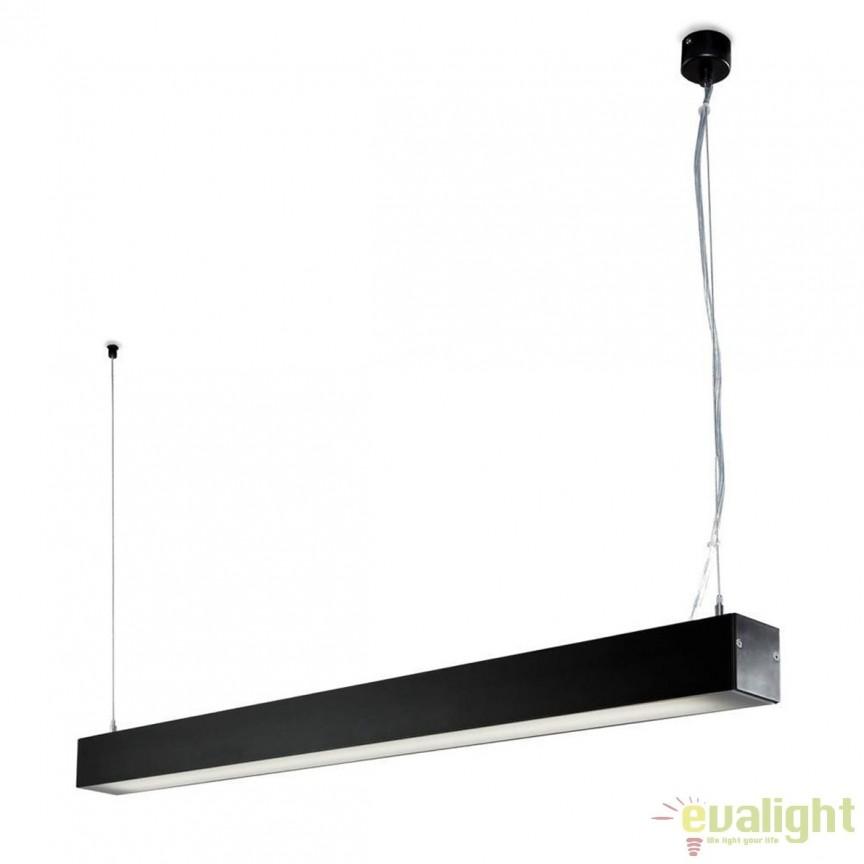 Lustra / Pendul ORE Surface negru T5 54W 04020202 Faro Barcelona, ILUMINAT TEHNIC PROFESIONAL, Corpuri de iluminat, lustre, aplice a