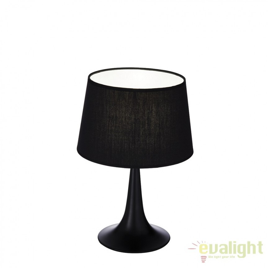Veioza, lampa de masa moderna LONDON TL1 SMALL NERO 110554, Magazin,  a