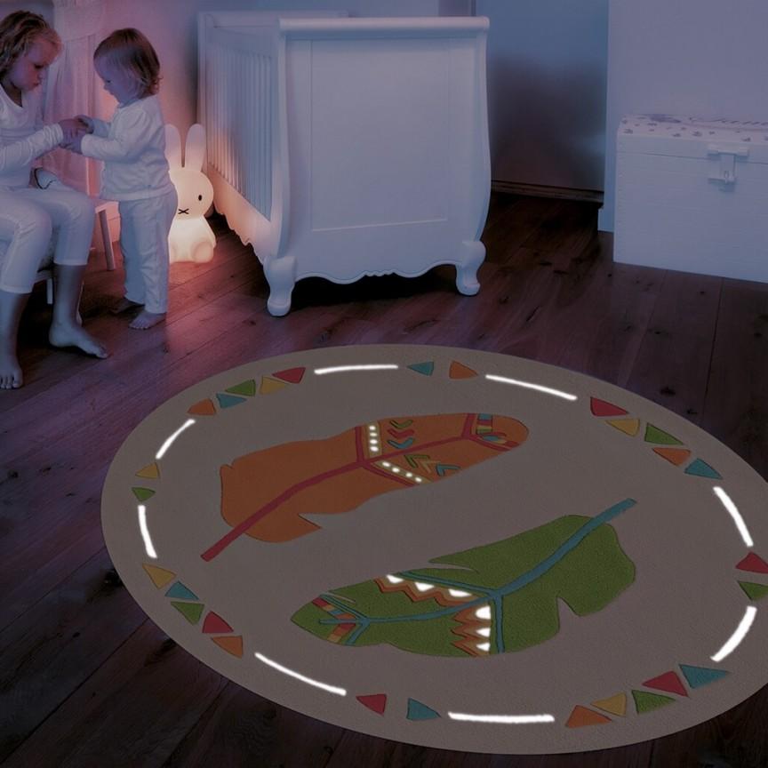 Covor copii cu fire fluorescente ce stralucesc in intuneric, Spirit-Glowy 130cm 3141-17 AE, Outlet,  a