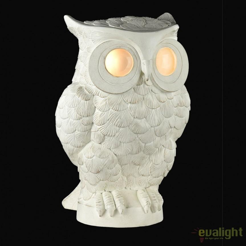 Veioza cu iluminat LED in forma de bufnita, Athena MY777-22-WG, PROMOTII, Corpuri de iluminat, lustre, aplice, veioze, lampadare, plafoniere. Mobilier si decoratiuni, oglinzi, scaune, fotolii. Oferte speciale iluminat interior si exterior. Livram in toata tara.  a