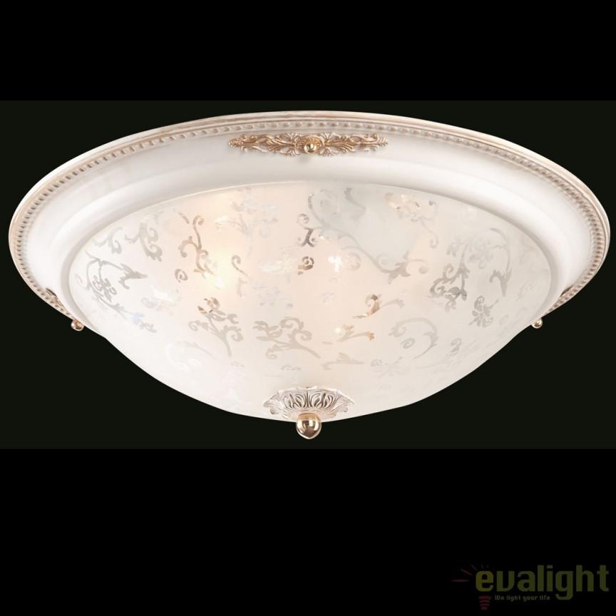 Plafoniera în stil clasic cu elemente decorative Diametrik 03-W MYC907-CL-03-W, Lustre aplicate, Plafoniere clasice,  a