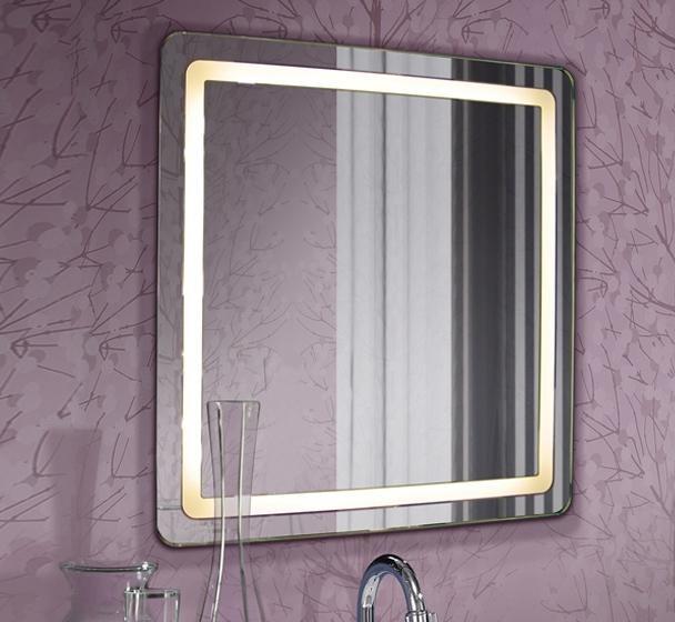 Oglinda pentru baie cu iluminat LED, protectie IP44, dim.65X65cm, Lara 315461, Oglinzi pentru baie, Corpuri de iluminat, lustre, aplice a