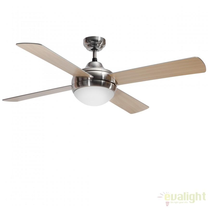 Lustra cu ventilator si telecomanda, palete in 2 culori, Cross Nickel 72124 SU, Rezultate cautare, Corpuri de iluminat, lustre, aplice a