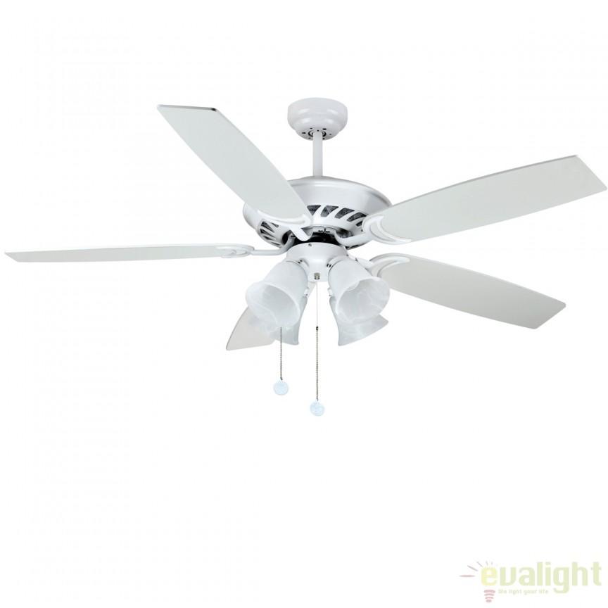 Lustra cu ventilator, palete in 2 culori, BUIK alb 72130 SU, Rezultate cautare, Corpuri de iluminat, lustre, aplice a