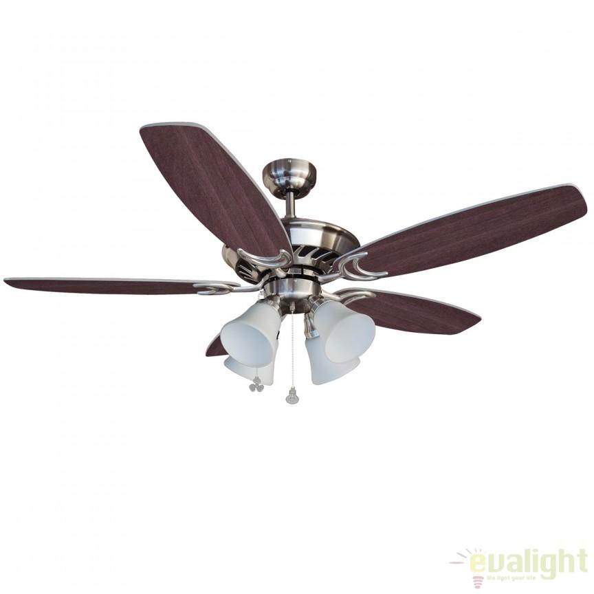 Lustra cu ventilator, palete in 2 culori, STROKE 72619 SU, Rezultate cautare, Corpuri de iluminat, lustre, aplice a