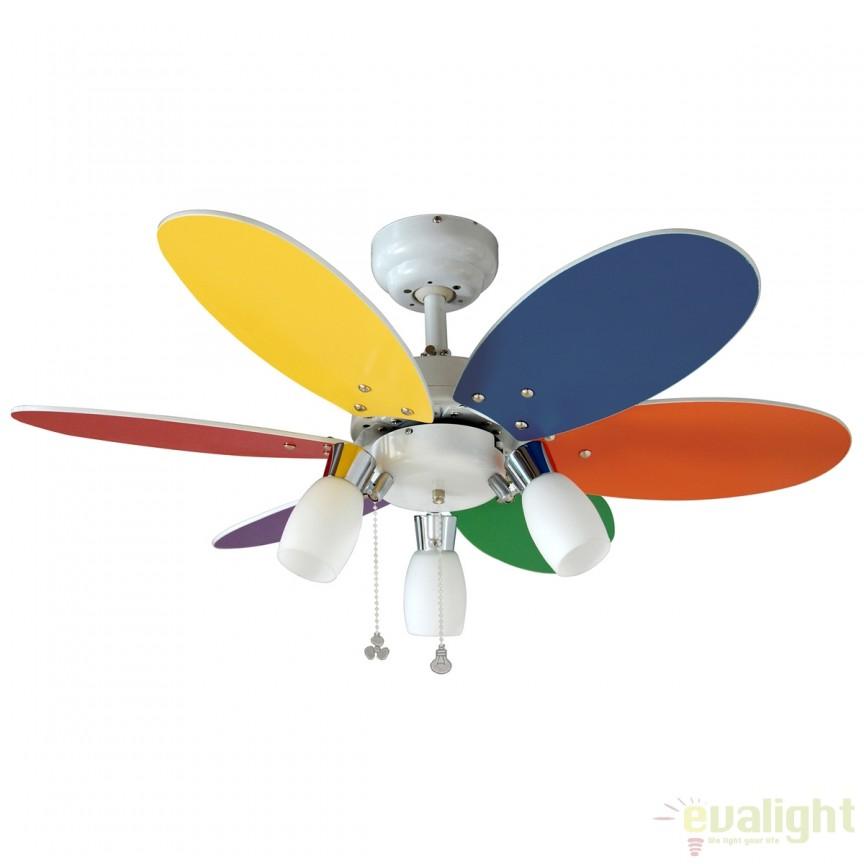 Lustra cu ventilator, palete in 2 culori, TONES 72645 SU, Rezultate cautare, Corpuri de iluminat, lustre, aplice a
