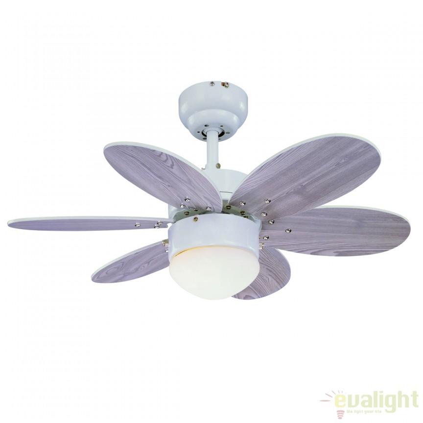 Lustra cu ventilator, palete in 2 culori, RAINBOW 75155 SU, Rezultate cautare, Corpuri de iluminat, lustre, aplice a