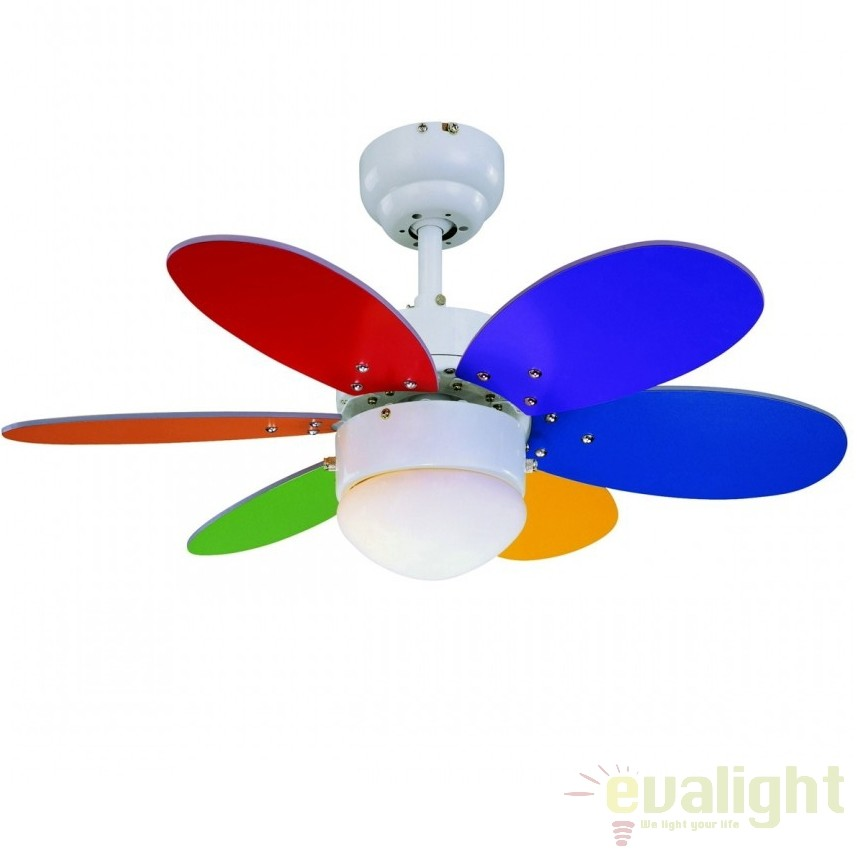 Lustra cu ventilator, palete in 2 culori, RAINBOW 75165 SU, Rezultate cautare, Corpuri de iluminat, lustre, aplice a