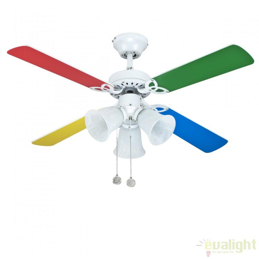 Lustra cu ventilator, palete in 2 culori, HORNET 75438 SU, Rezultate cautare, Corpuri de iluminat, lustre, aplice a