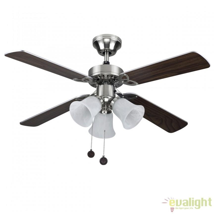 Lustra cu ventilator, palete in 2 culori, HORNET nickel 75439 SU, Rezultate cautare, Corpuri de iluminat, lustre, aplice a