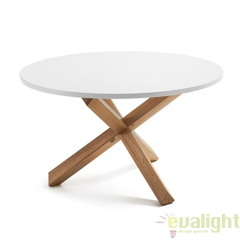 MASA DINING din lemn masiv de stejar, NORI C473L05 JG, Corpuri de iluminat, lustre, aplice