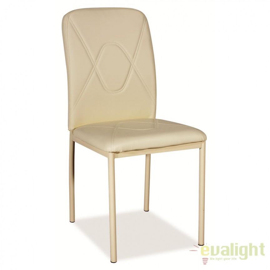 Scaun dining modern si confortabil, H623 crem/ crem H623KK SM, Mobila si Decoratiuni,  a