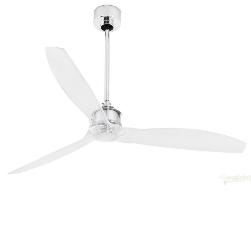 Ventilator modern cu telecomanda diam. 128 cm, JUST FAN Cromat 33394 Faro Barcelona , Rezultate cautare, Corpuri de iluminat, lustre, aplice a